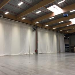 Rental of temporary dust screens